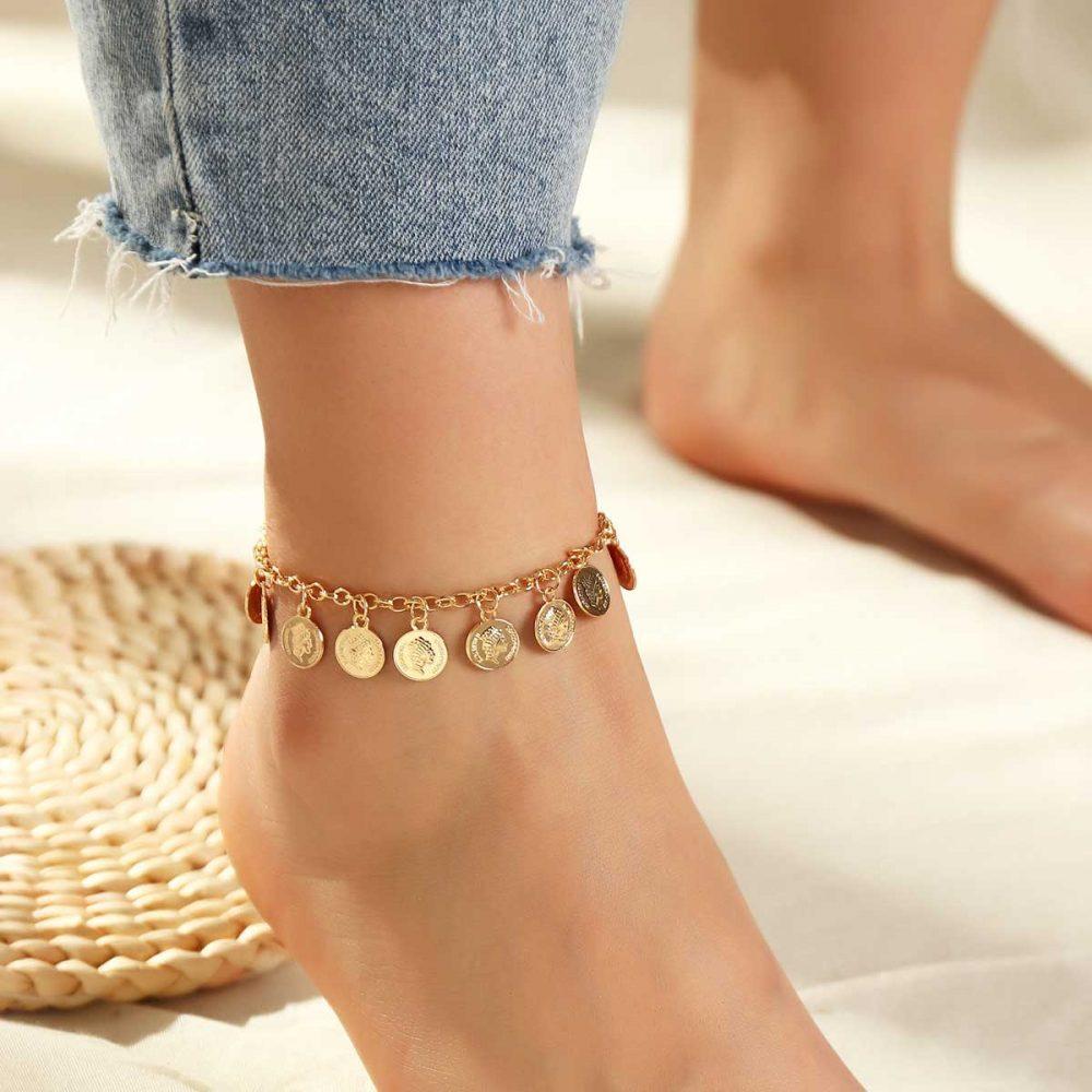 Beach style ankle bracelet